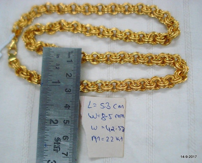 Vintage 22kt Gold Chain Necklace