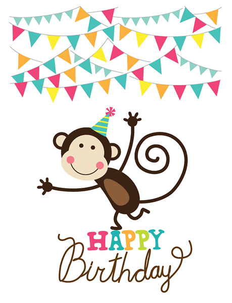 Birthday Monkey | Happy birthday, Birthdays and Monkey