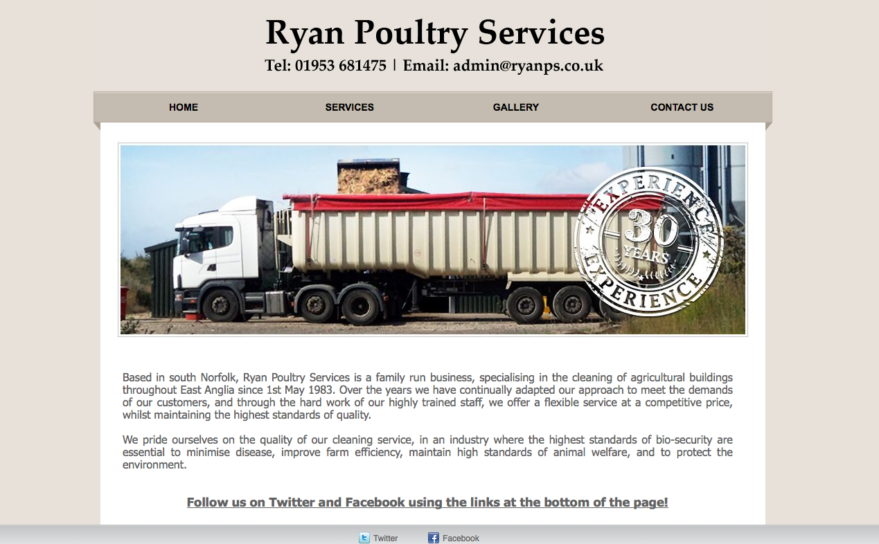 Ryan Poultry Services Is A Family Run Business Specialising In
