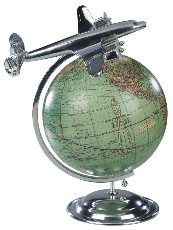 On Top Of The World Lockheed Super Constellation Desktop Globe  AP108