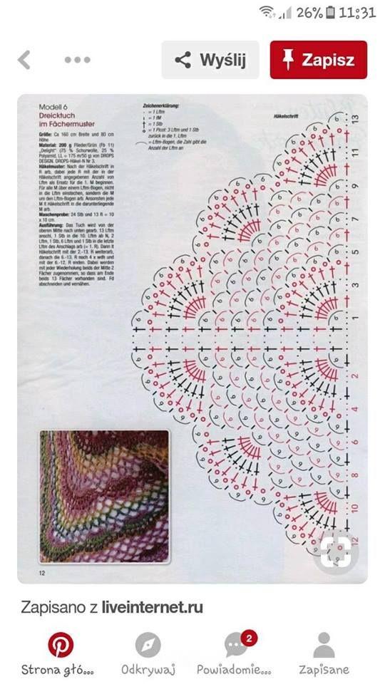 Pin de Dominique Lessard en Crochet | Pinterest | Chal, Ganchillo y ...