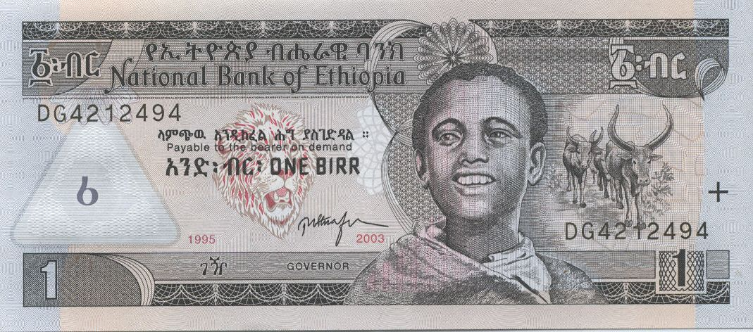 Ethiopian Birr Currency Flags Of