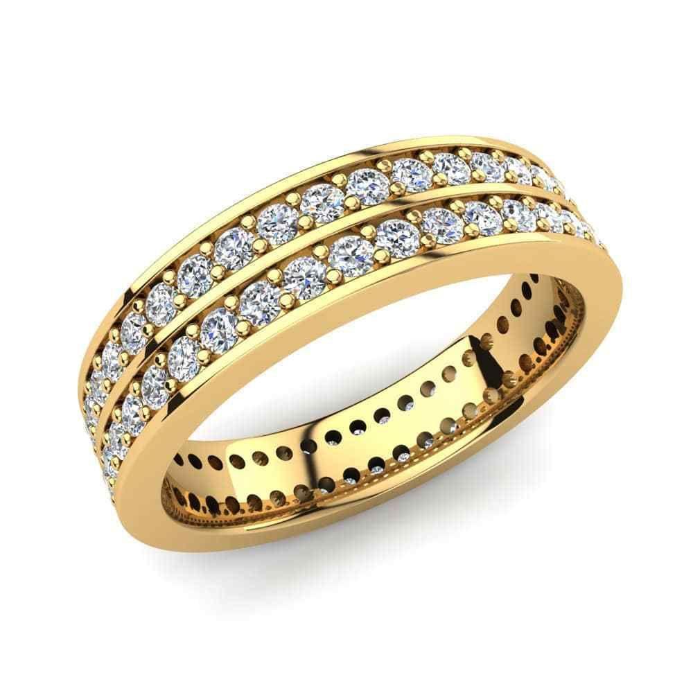 IGI Certificate 1.50Ct Round Diamond Full Eternity Wedding