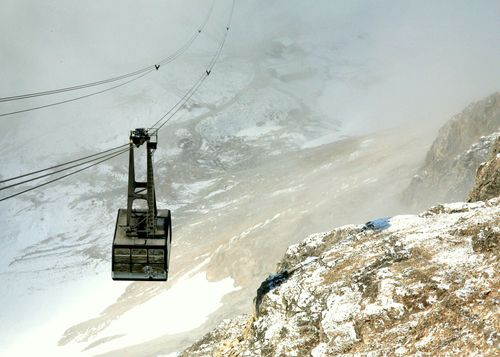 zugspitze germany pictures | Zugspitze / Germany ©Germano Schüür  (I actually rode in one of these cable cars)