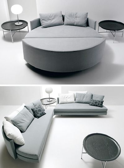 One Sofa Small Living Room Decor: Round Beds, Round Mattresses & Round Sleeper Sofas