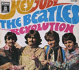 The Beatles: 'Hey Jude/Revolution' picture sleeve for single, 1968