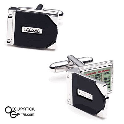 Profit and Loss Cuff Links - Great gift idea for bookkeepers - business profit and loss