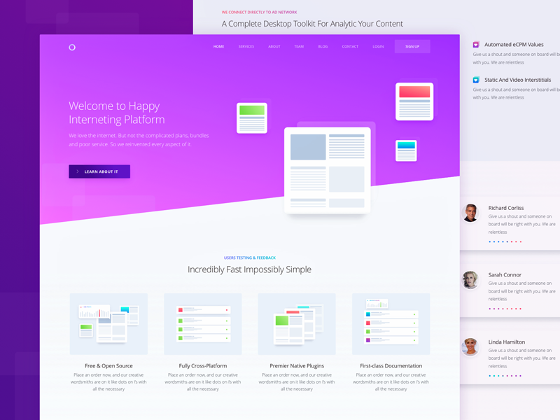 Inner Service Page For Marketing Website By Sergey Pikin Dribbble Marketing Website Web Design Services Web Design