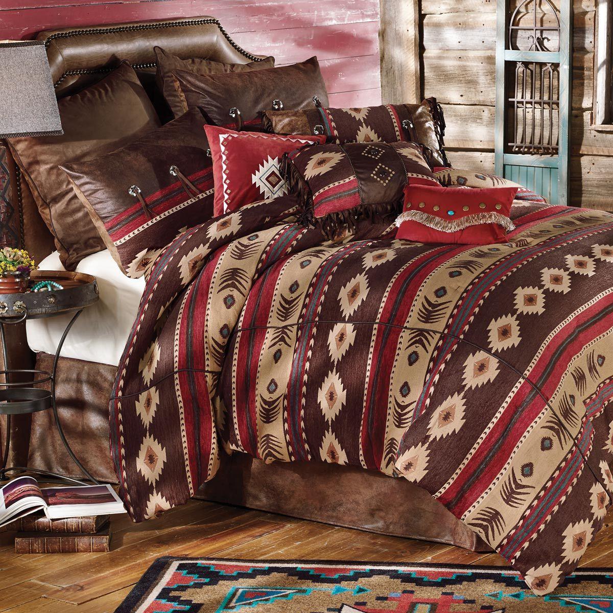 Best Desert Horizon Southwest Bed Set Queen Rustic Bedding 640 x 480