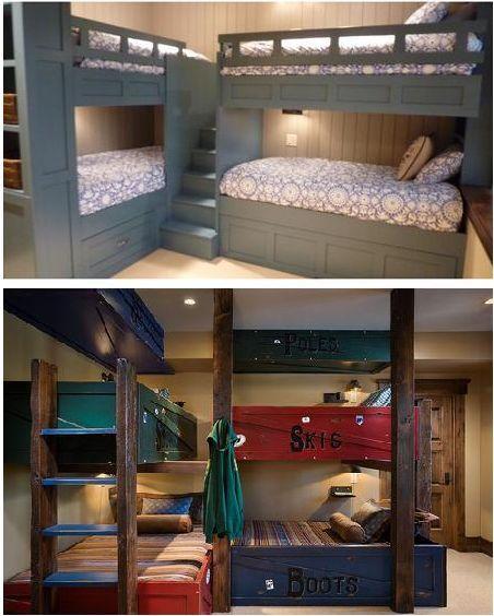 Lakefront Cottage Design Idea Observation Loft: Image Result For 2 Bunk Beds With Corner Step Access