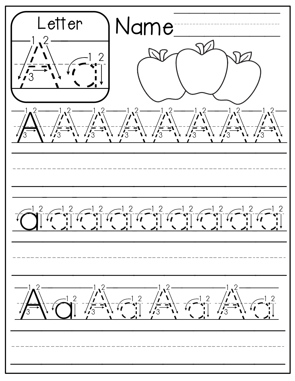 Handwriting Worksheet Az