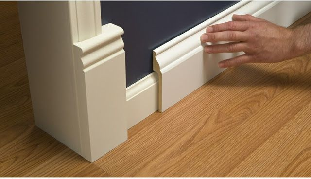 Install Wide Baseboard Molding Over Existing Narrow Baseboard A Stroll Thru Life Baseboard Styles Baseboards Home Diy