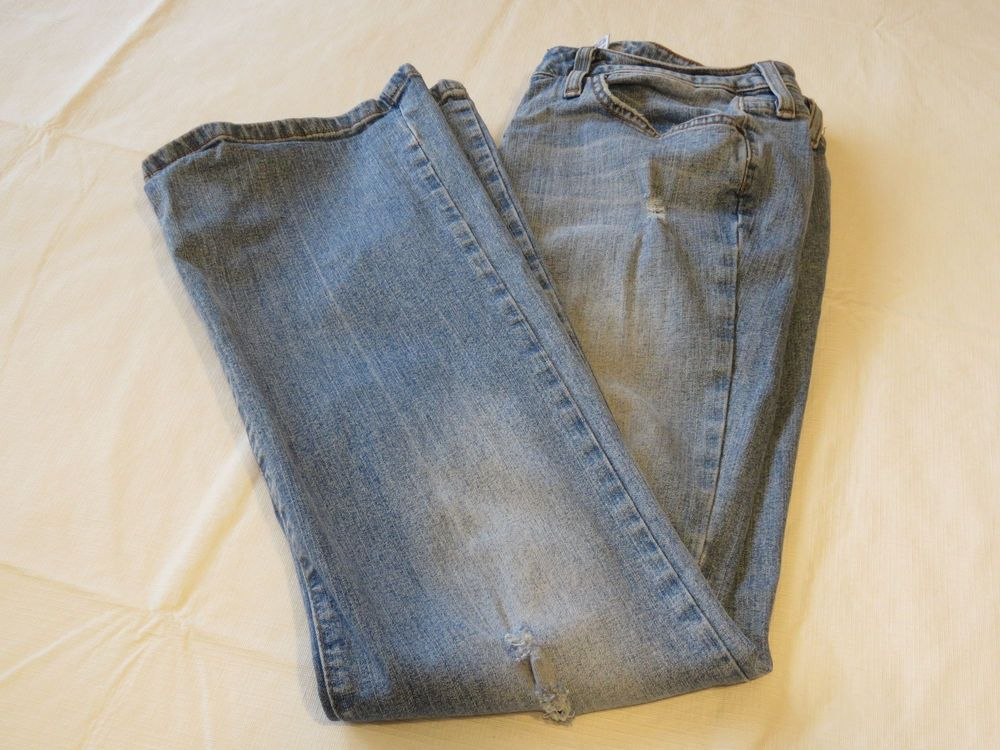 Womens Outlooks Boot Corto stretch 9 Short 1000-0 Denim blue jeans pre-owned #Outlooks #Jeans