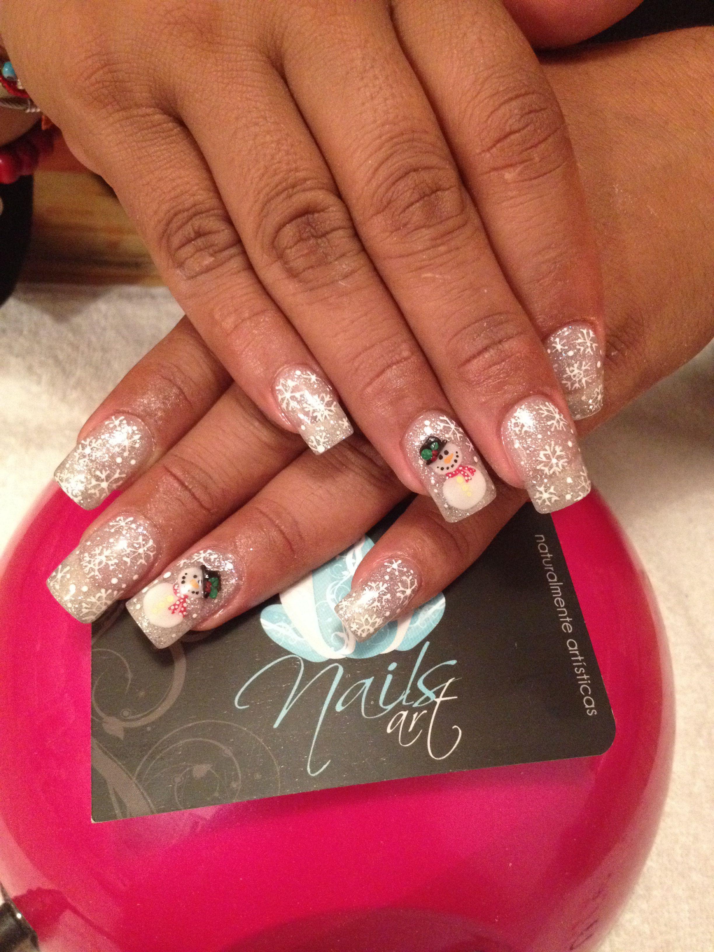 Nails art acrylic nails christmas nails Nails again Pinterest