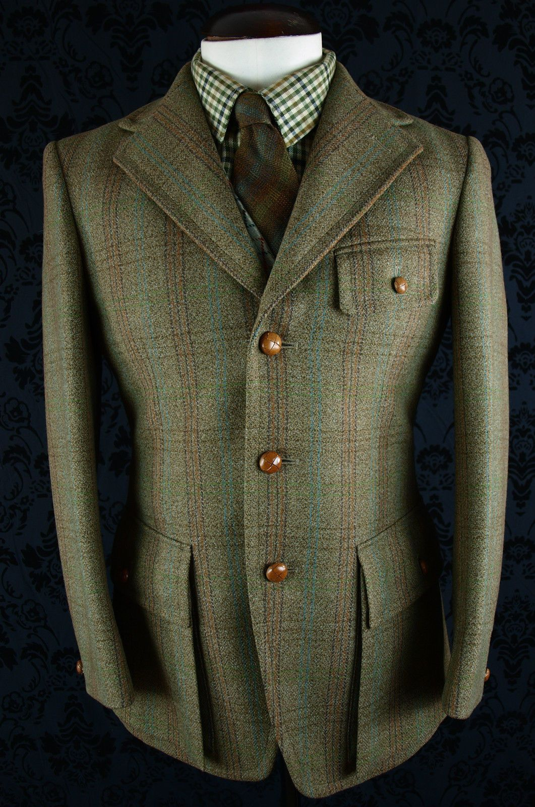 Superb Vtg Mens Bladen Tweed Norfolk Shooting Hunting Jacket Blazer 38 Small Jackets Men Fashion Norfolk Jacket Vintage Mens Fashion
