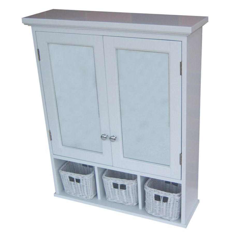 Mirrored Medicine Cabinet Lowes Allen  Roth 2475In X 3025In Rectangle Surface Mdf Medicine