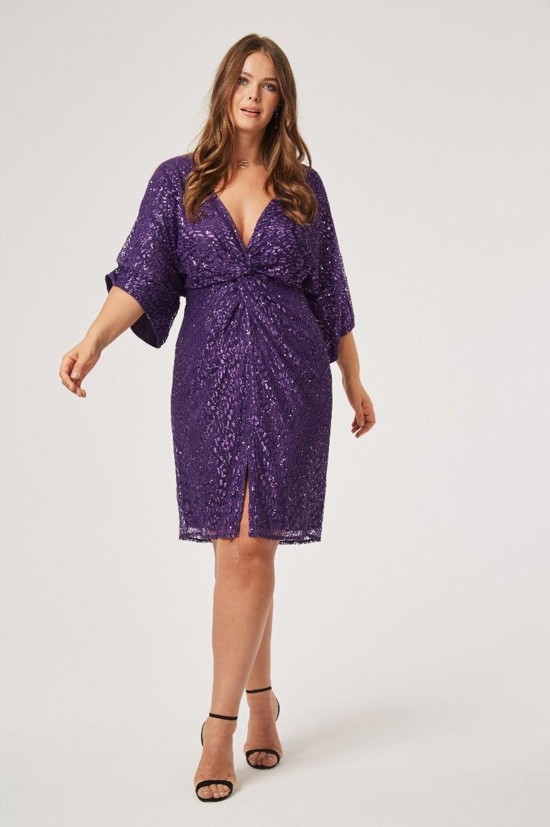 Sali Sequin Knot Dress Plus Size Party Dresses Plus Size Wedding Dresses With Sleeves Party Dresses With Sleeves [ 1200 x 799 Pixel ]