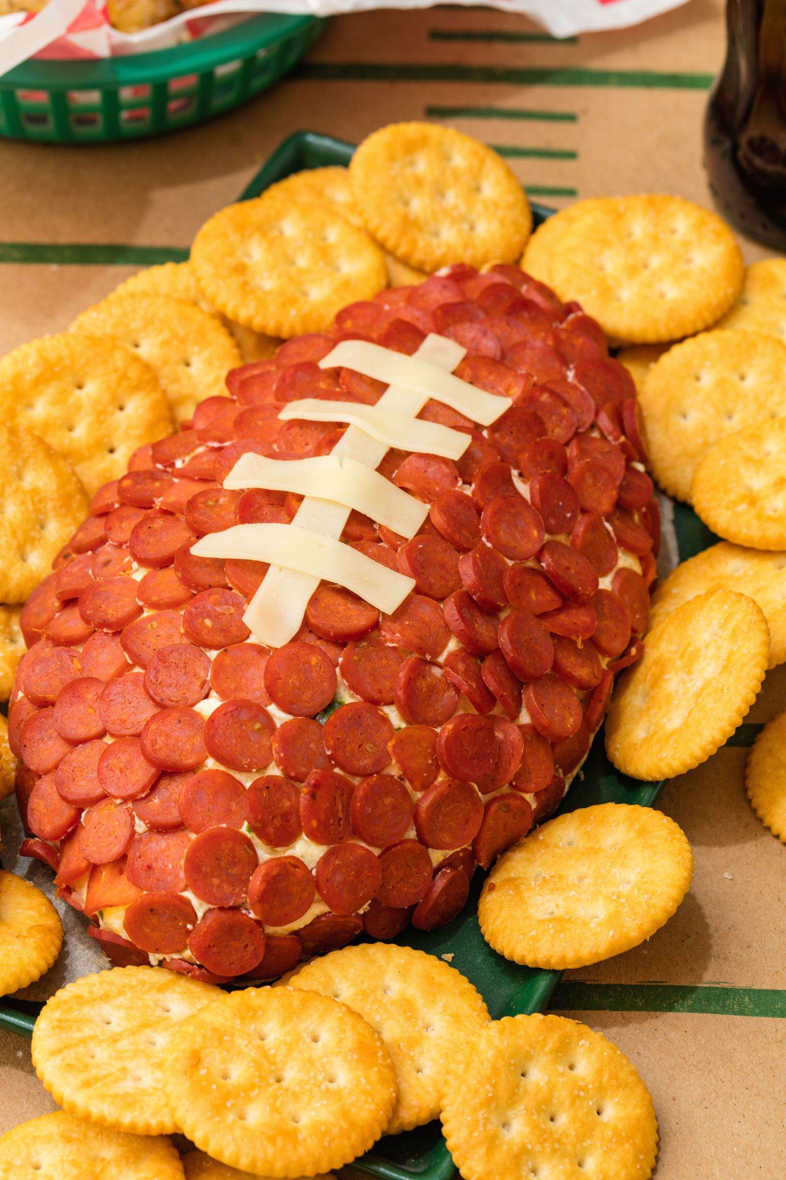 Pepperoni Football Recipe Super bowl menu, Healthy