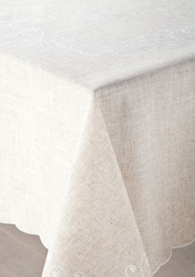 Lenox French Perle Linen Oblong Tablecloth 60 In. X 84 In.