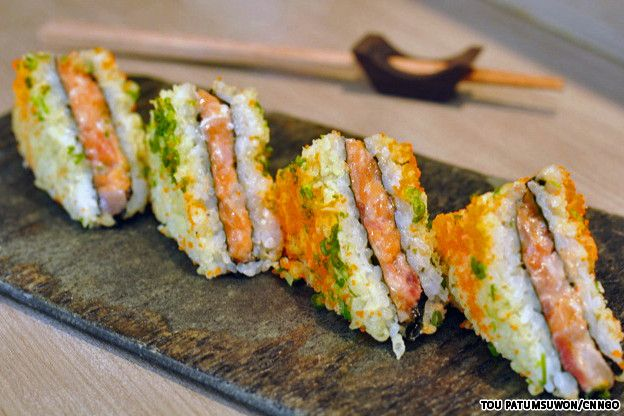 ISAO sushi sandwich 3 SUSHI RESTAURANTS THAT I MUST GO TO