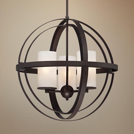 Morris 21 wide 3 light bronze sphere pendant light bronze pendant morris 21 wide 3 light bronze sphere pendant light 8g458 lamps plus aloadofball Gallery