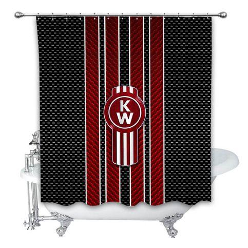 New Kenworth Emblem Custom Shower Curtain 100 Polyester Shower