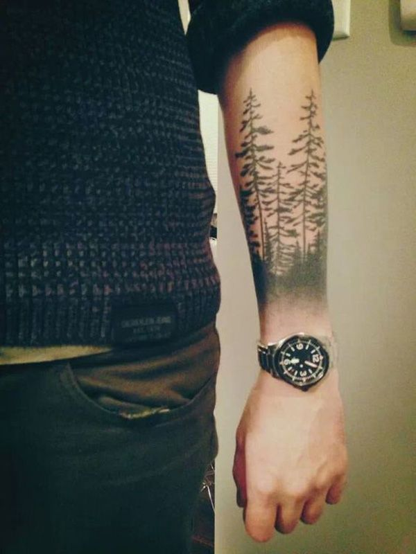 45 Inspirational Forest Tattoo Ideas Cuded Tattoos For Guys Cool Forearm Tattoos Forest Tattoos
