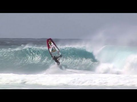Published on May 30, 2013    With so many northerly winds and medium sized waves on Maui this winter, Jason and Robby ventured to the North Short of Oahu in search for winds and good windsurfing waves. And did they find both!