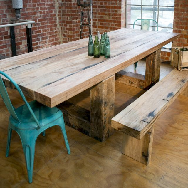 Reclaimed australian timber dining table from Mulbury  Mulbury