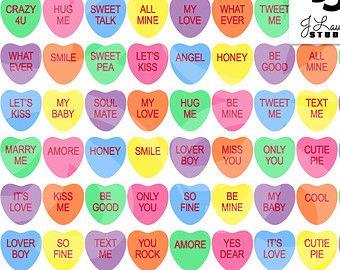 36++ Conversation heart candy clipart information