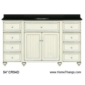 Sagehill, CR5421D, Bathroom Vanities, Sagehill Designs 54 Bathroom Vanity  From Cottage Retreat Collection