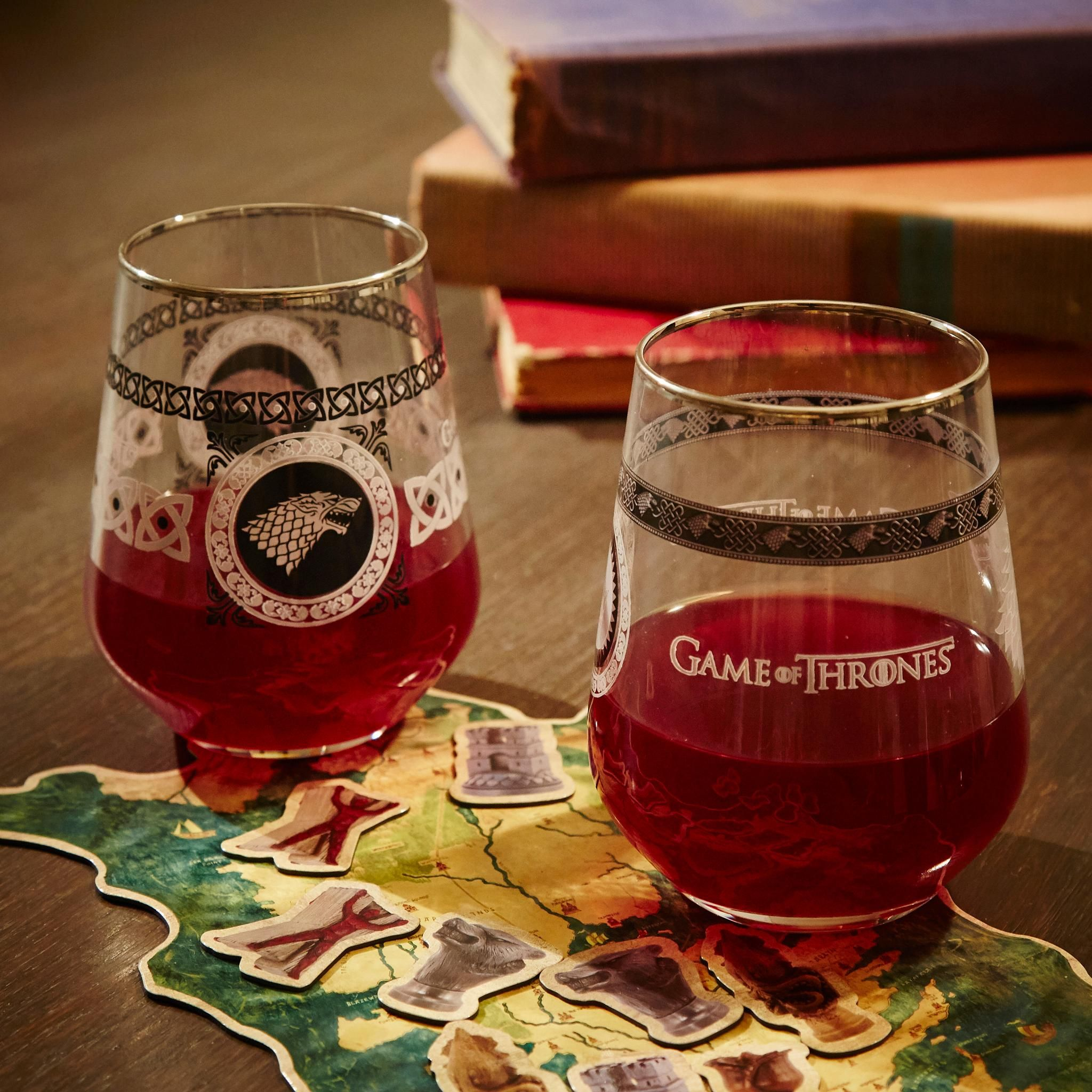 Game Of Throne House Stark Wine Glasses Game Of Thrones Party Game Of Thrones Houses Game Of Thrones