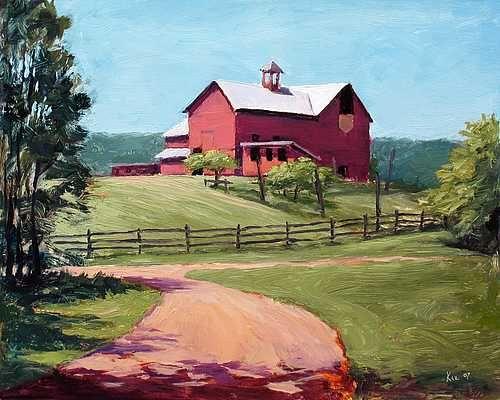 Howell Farm, Beginning Of Summer   Landscape Paintings By Joe Kazimierczyk