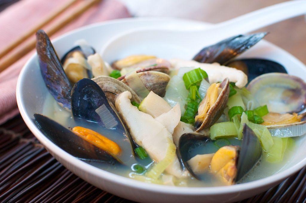 Fat of the Land: Matsutake and Shellfish Soup