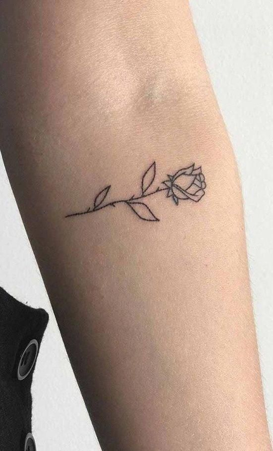 Pin By Luke Butel On Rose Tattoo In 2020 Tiny Tattoos For Girls Mini Tattoos Tattoos