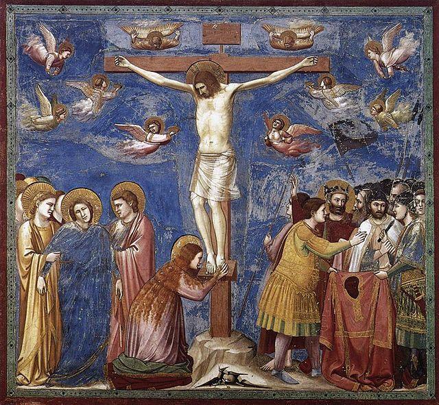 Giotto Cruxifixion Crocifissione con cinque francescani