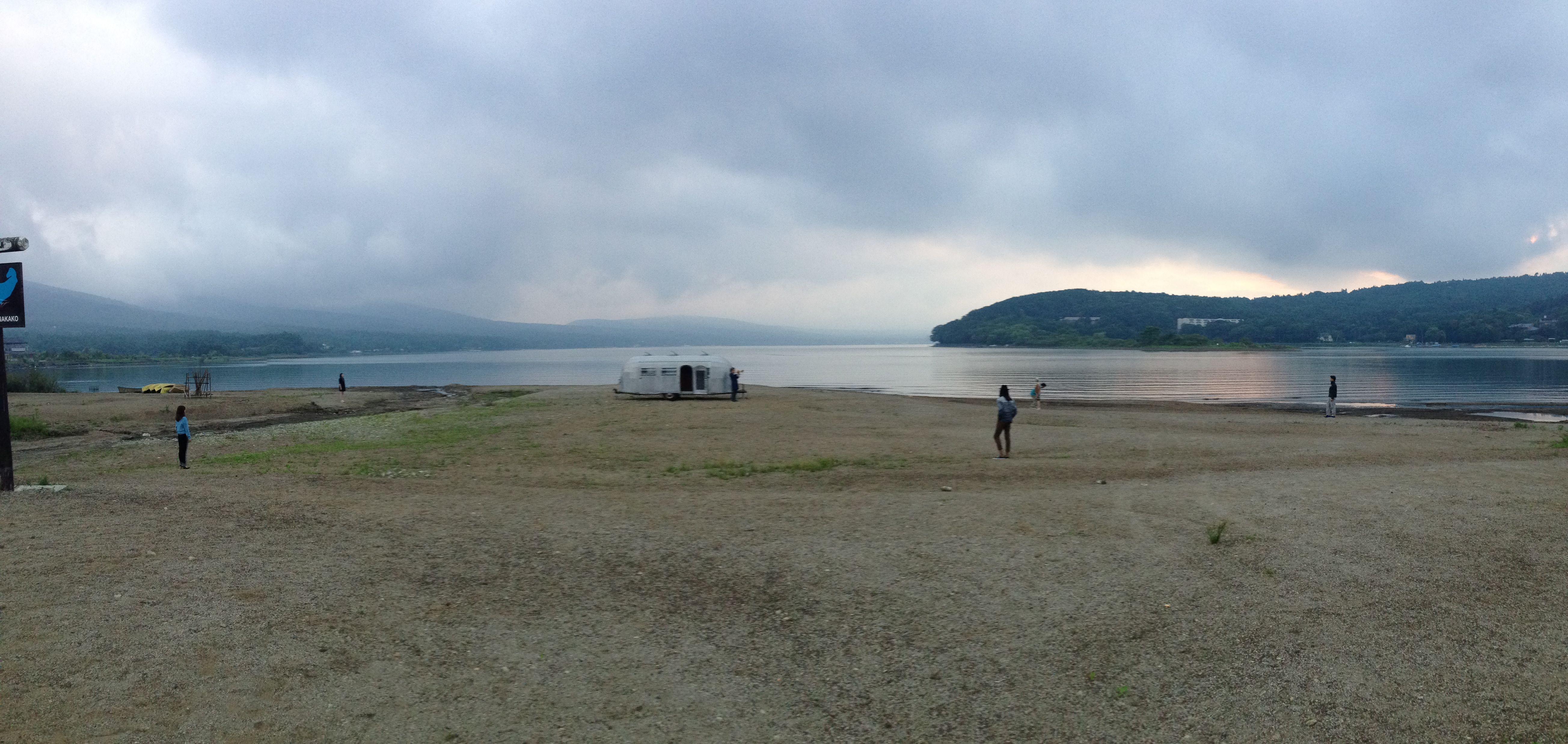 [video shooting] setting for sense of place 2013-14AW at Yamanakako, Japan.