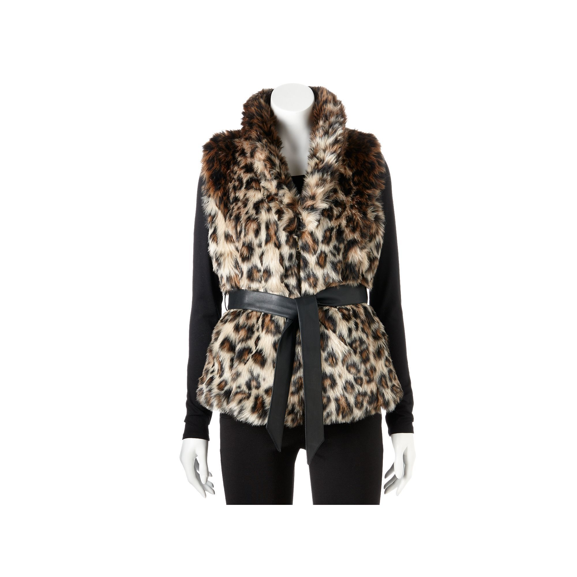 Excelled Women's Excelled Leopard Faux-Fur Vest