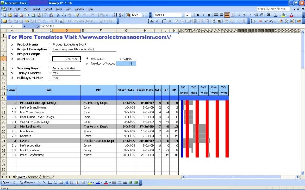 Get Production Schedule Excel Templates – Production Schedule Template