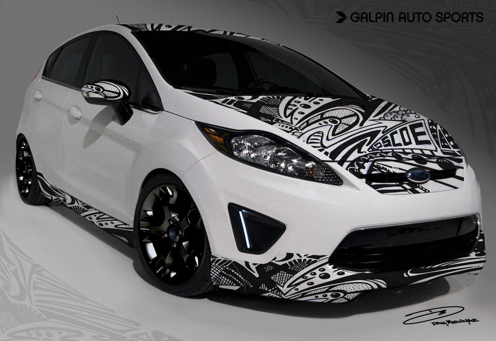 Cool Vinyl Wrap Car Black Honda Car Graphics