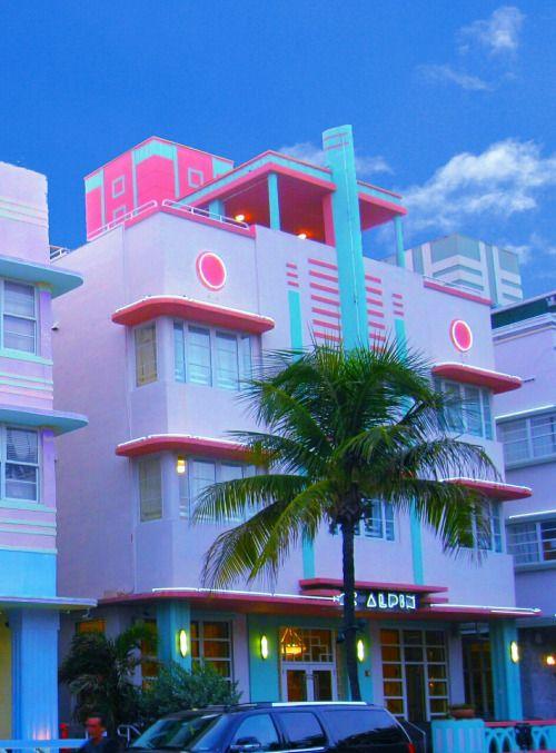 5f6511934 Miami Art deco - palm and bright pastels … | A E S T H E T I C | Miami…