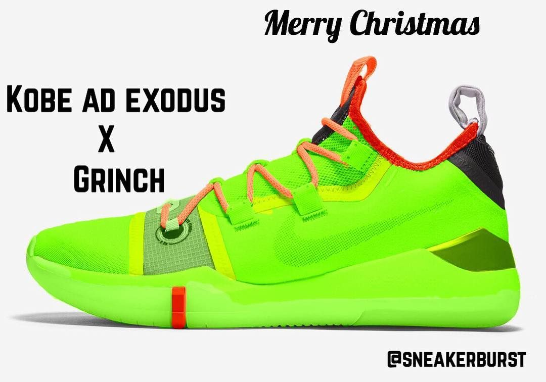 "bfaf7d1f632e MERRY CHRISTMAS 🎁 —Kobe AD Exodus "" Grinch "" Concept!🐸 — 🔥 or 🤮  —————————————————————————————— nike  adidas  shoes  cavs  warriors…"