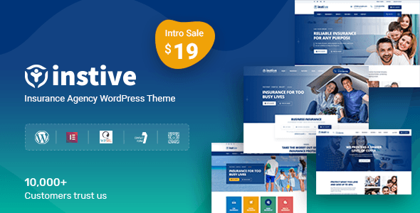 Instive Insurance Wordpress Theme Instive Is A Unique Insurance