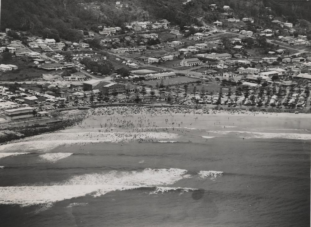 Aerial view of Burleigh Heads, Queensland ca. 1952