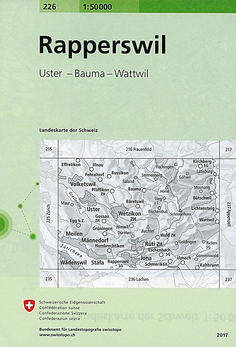 Landeskarte Der Schweiz Rapperswil Karte Im Sinne Von
