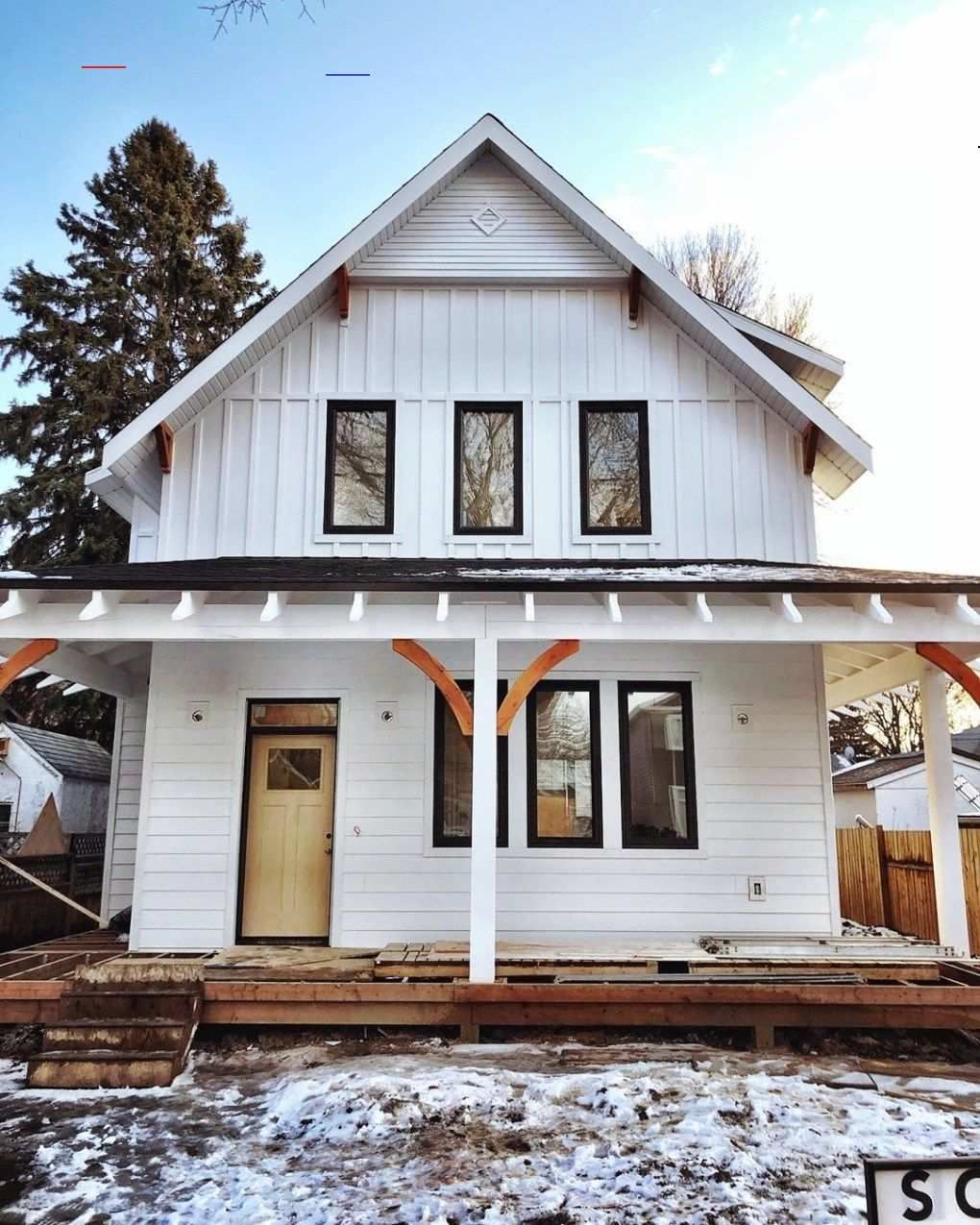 #boardandbattensiding in 2020 | Farmhouse exterior, Board ... on Modern Siding Ideas  id=80435
