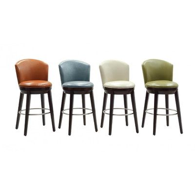 Sunrise Furniture Megan Swivel Bar Stool With Cushion U0026 Reviews | Wayfair