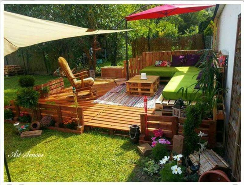 Perfect patio set all made of Pallets | Things you can do using ...