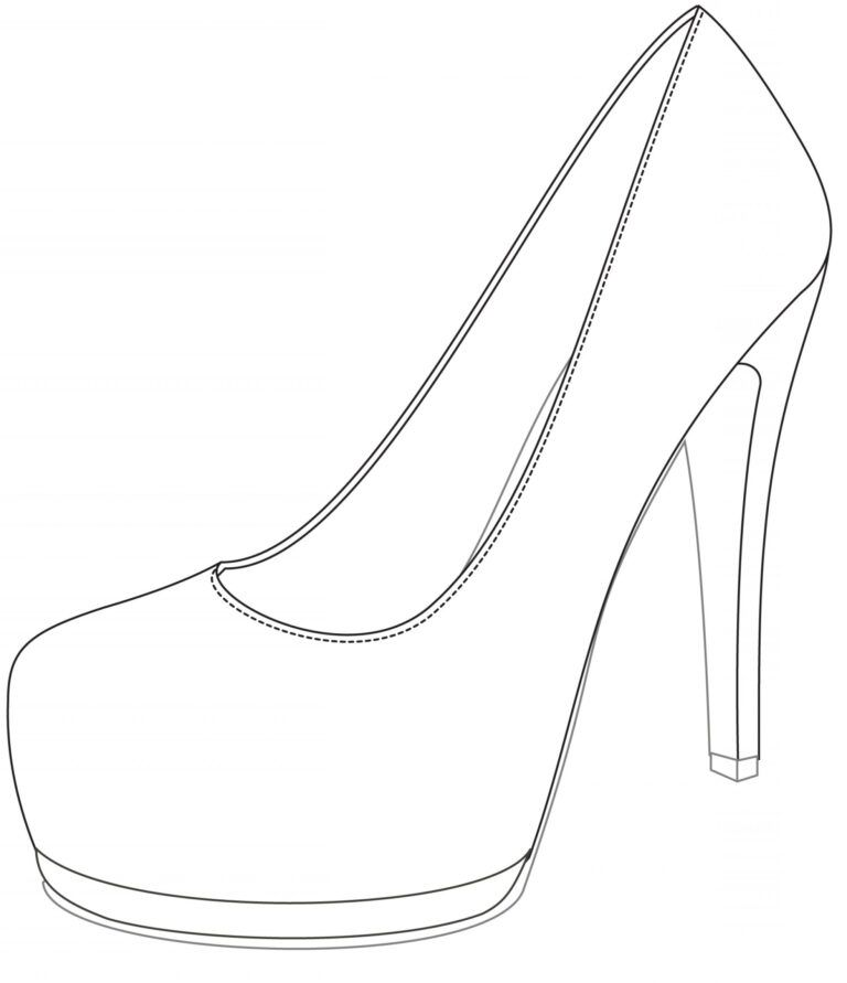 Shoe Drawing Template Free Download Best Shoe Drawing Within High Heel Shoe Template For Card Shoe Template Shoes Drawing Nice Shoes