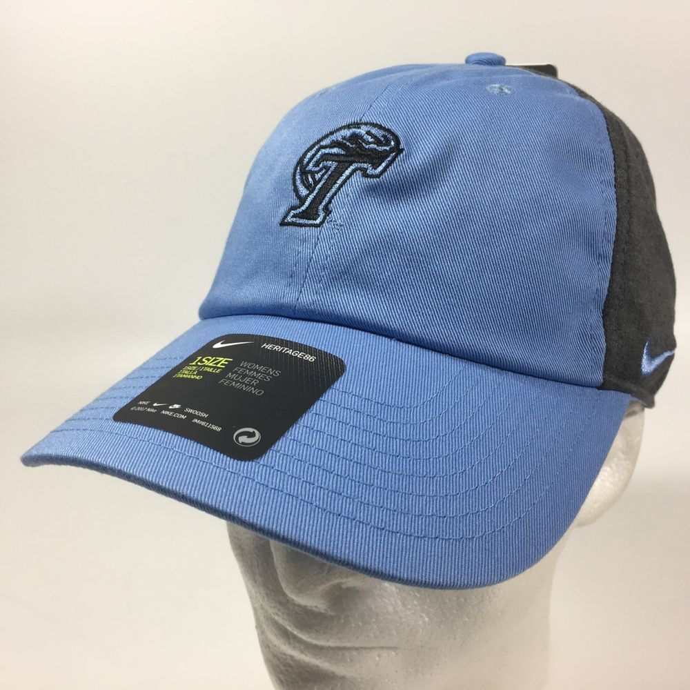 Women s Nike Heritage86 Tulane Green Wave NCAA Baseball Cap Hat Blue Gray   Nike  BaseballCap  TulaneGreenWave cdd76ff839e